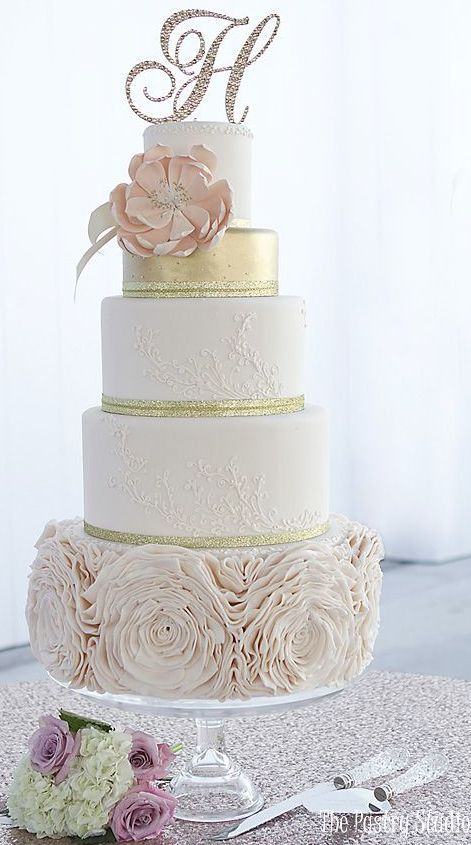 17 Best Ideas About 5 Tier Wedding Cakes On Pinterest 7