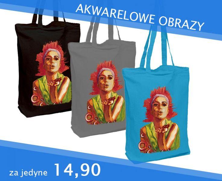 TORBA BAWEŁNIANA 3 kolory do wyboru AKWARELA DTG