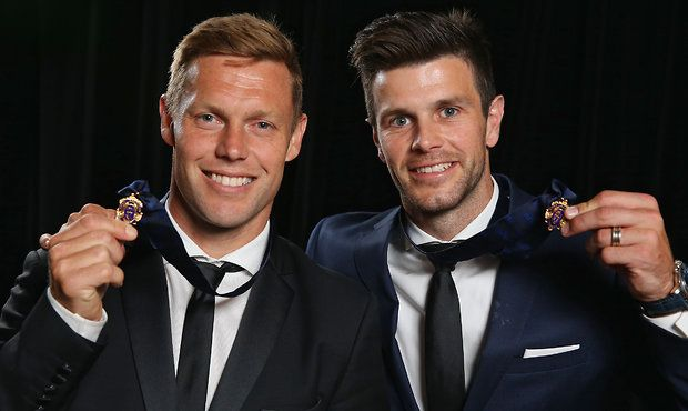 AFL 2016 Media - 2012 Brownlow Presentation to Sam Mitchell and Trent Cotchin.