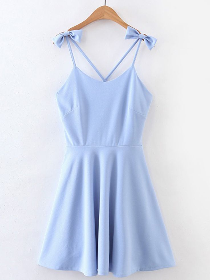 Shop Criss Cross Back Cami Dress With Bow Detail online. SheIn offers Criss Cross Back Cami Dress With Bow Detail & more to fit your fashionable needs.