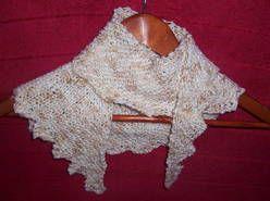 Baktus smoczy ogon - rękodzieło na drutach