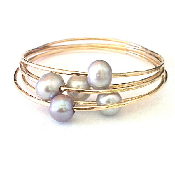 RockaBella Jewels — Tahitian Pearl Bangle or Freshwater Pearl Bangles