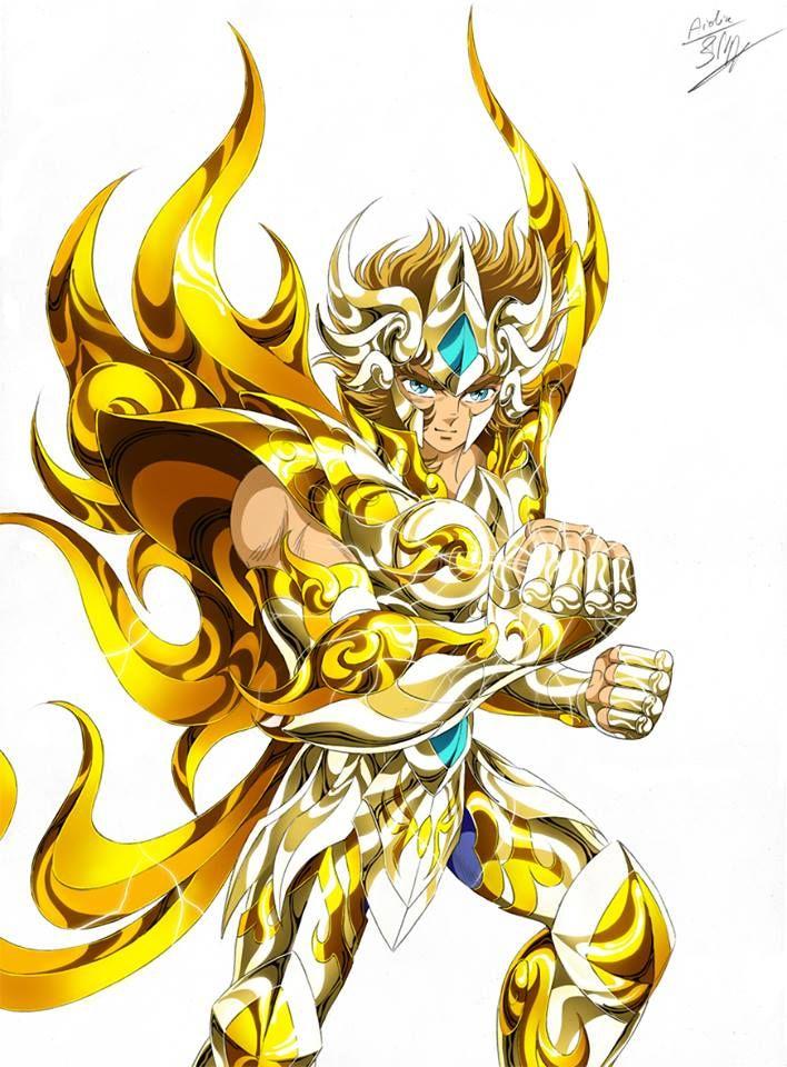 Gold Saint Leo Aioria with Divine Cloth, Artwork by Spaceweaver. Saint Seiya: Soul of Gold