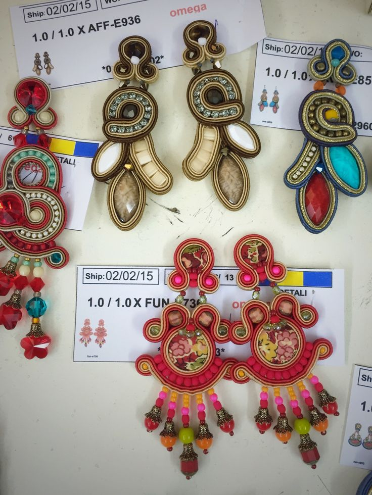 ready set go - our earrings just before we carefully wrap them and send them on…