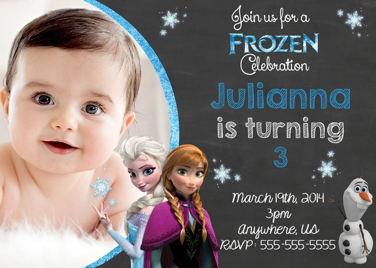 Frozen birthday invitations asda with images frozen