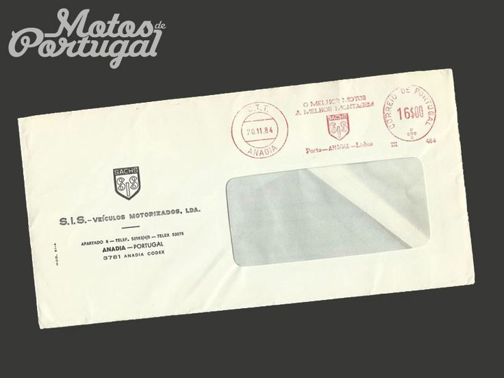 SIS Sachs moped factory envelope - 1984 Portugal
