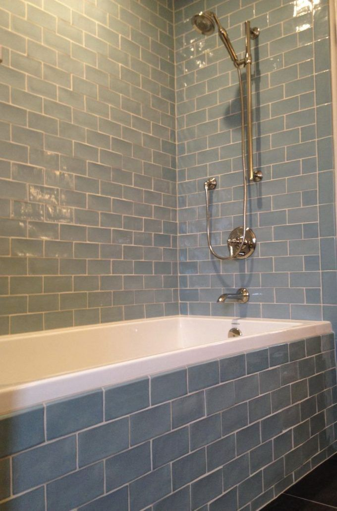 Daltile Subway Tile And Bathtub With Bathroom Fixture For