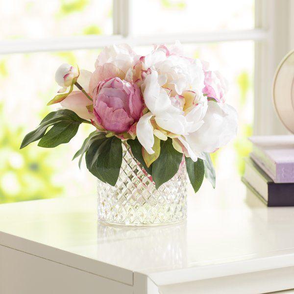Beautiful Bouquet Of Magenta Hydrangea And Cream Pink And Magenta Peonies In A Diam Hydrangea Flower Arrangements Flower Arrangements Silk Flower Arrangements