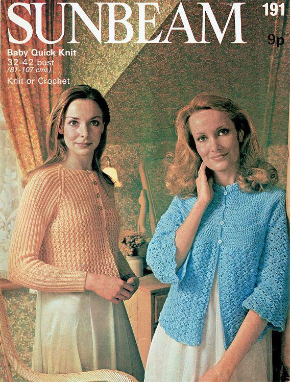 Pdf Vintage Womens Ladies Bedjacket Knitting & Crochet Pattern