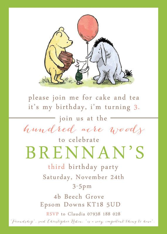 8d438d607eaec7620c25d3a43fac74b6 winnie the pooh birthday its my birthday 12 best images about 2nd birthday party ideas on pinterest party,Vintage Winnie The Pooh Invitations