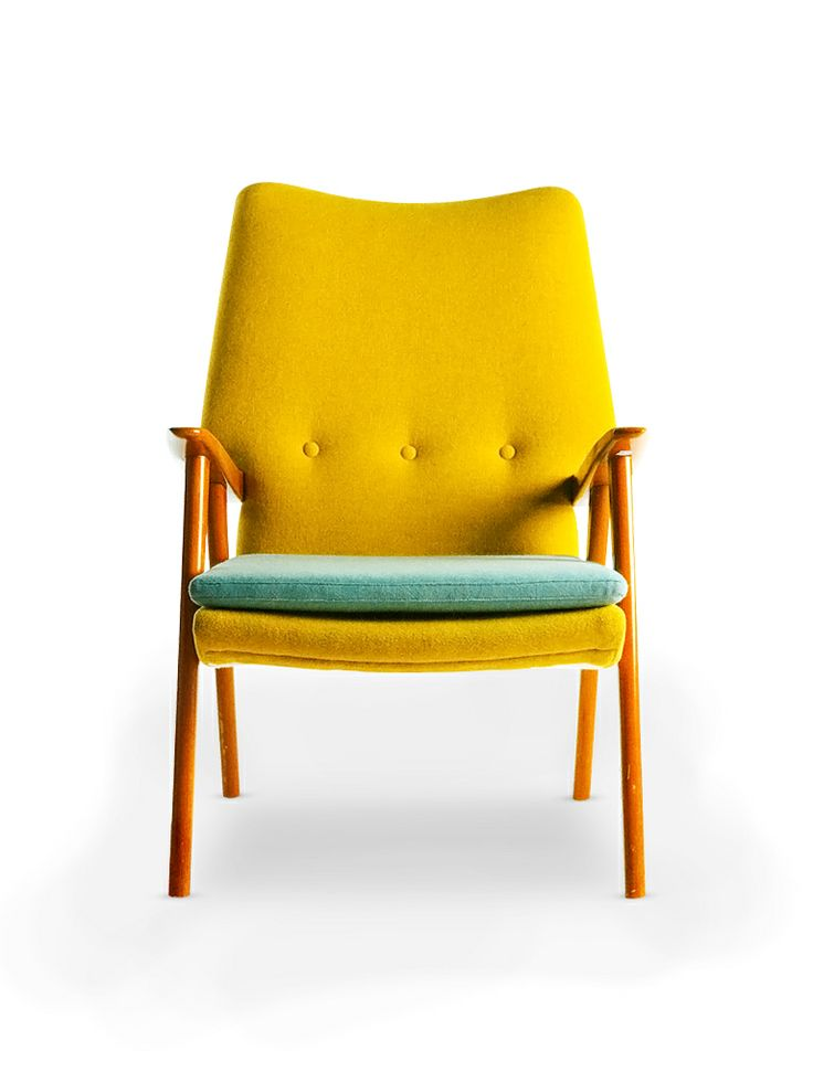 Yellow And Mint Armchair, Terence Conran