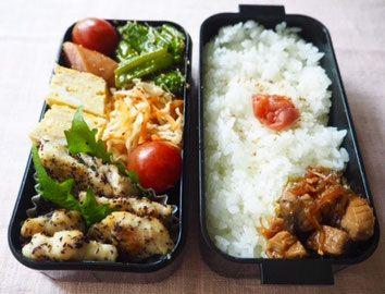 かつおの角煮入り、鶏むね肉のゆかり焼き弁当 - 奥薗壽子のなべかまぺーじ
