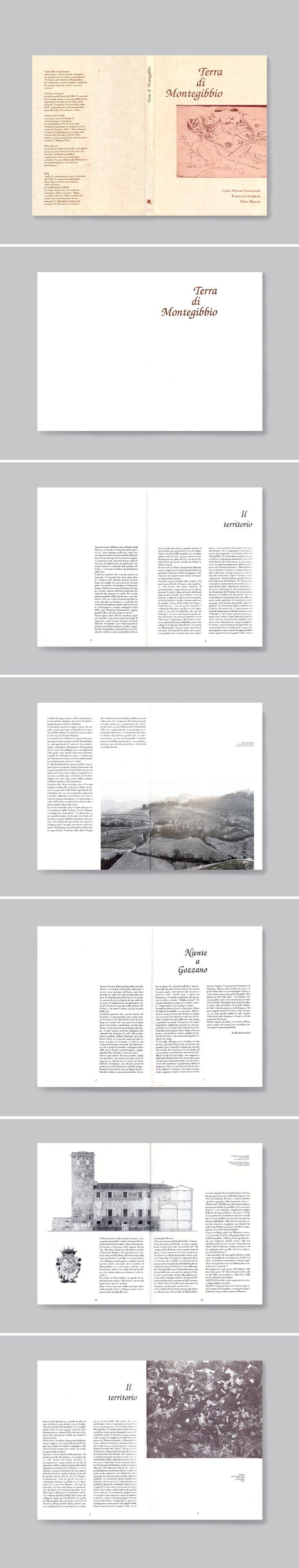 TERRA DI MONTEGIBBIO, volume sull'antropologia locale: documenti e manoscritti storici si confrontano con la grafica moderna, dando vita ad un garbato mix.  Progetto www.gariselliassociati.it