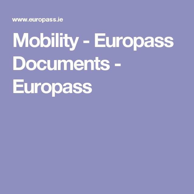 Mobility - Europass Documents - Europass