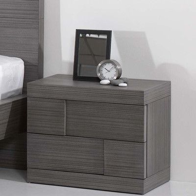 Chintaly Sydney 2 Drawer Nightstand - http://delanico.com/nightstands/chintaly-sydney-2-drawer-nightstand-588692221/