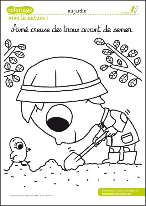 Nature Coloring Pages Pdf : Coloriage nature à télécharger pdf pinterest