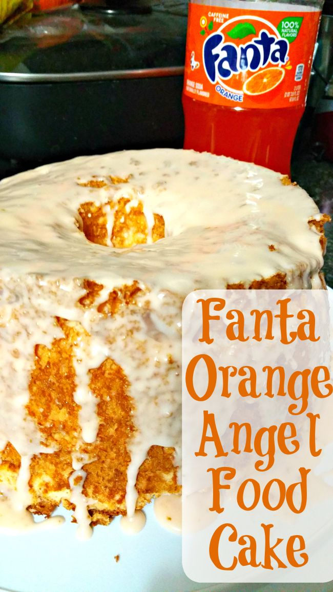 fanta orange angel food cake - I want to try this with strawberry soda ...