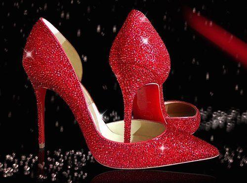 Blinga Design - Chanel Strass Handbags And Louboutin Crystal Shoes.