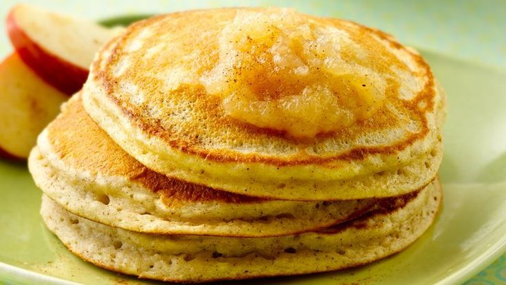 Enjoy these delicious pancakes flavored with applesauce and made with Bisquick® mix. Perfect when you want your breakfast to be ready in 15 minutes.