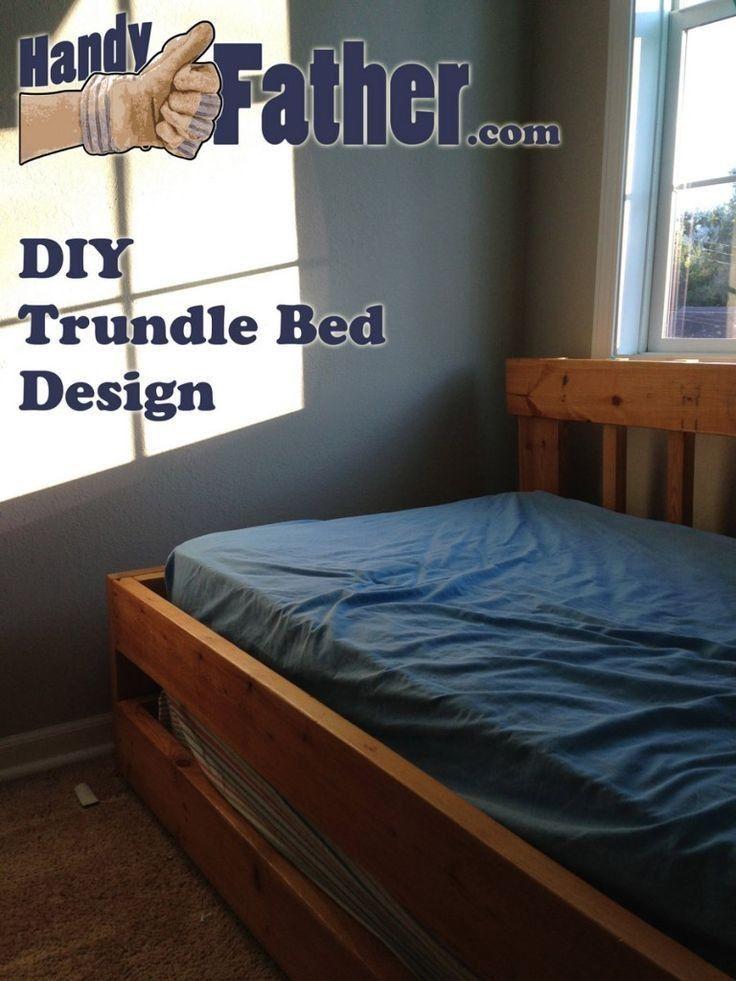 Diy Full Size Bed Frame Inspirational Diy Trundle Bed Design W Free Plan Downloa In 2020 Diy Full Size Bed Frame Trundle Bed Plans Trundle Bed