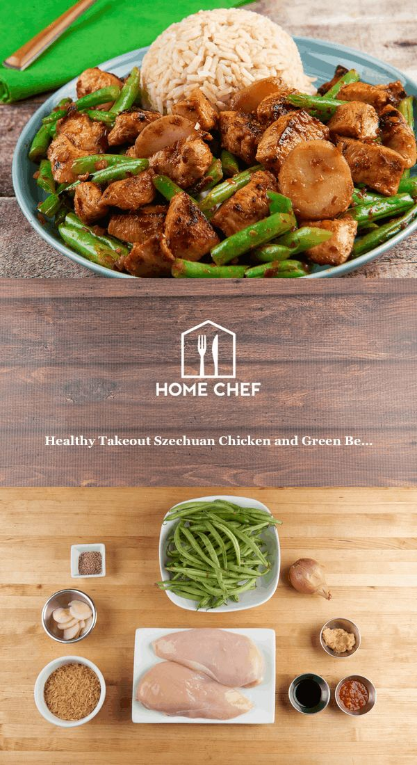 Szechuan cuisine is noted for its bold and spicy flavor profiles, and this dish definitely delivers with fire-y chile sauce and Fresno chiles. Green beans and brown rice round out this tasty meal.