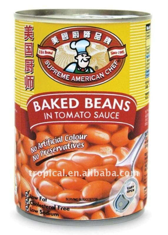 Canned Baked Beans In Tomato Sauce 425g*24 Chinese Origin High Qualit ...