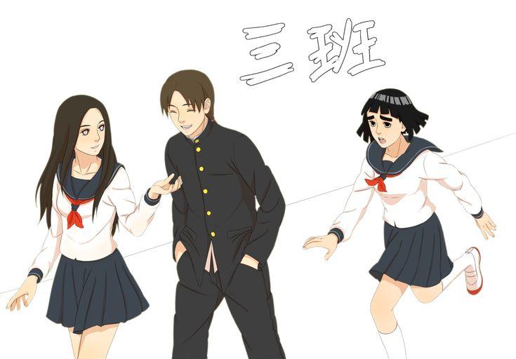 Konoha High School - Team Guy(gender-bender) by steampunkskulls.deviantart.com on @deviantART