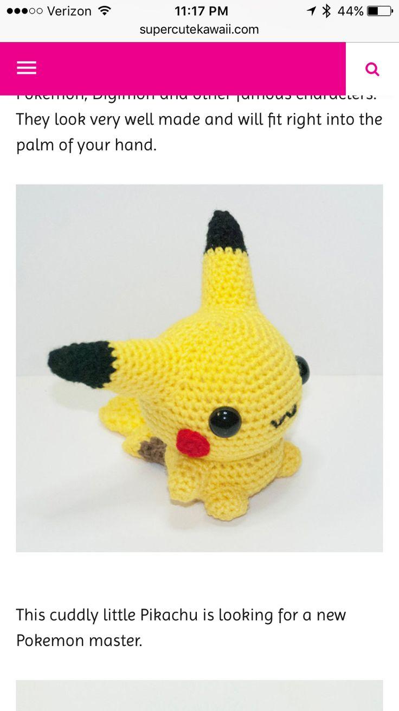 61 best Pokemon images on Pinterest | Amigurumi patterns, Crocheting ...