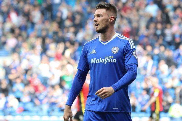 Anthony Pilkington wearing the new Cardiff City 2016/17 kit at the last game of the 2015/16 season against Birmingham.  #CCFC #CardiffCityFC #Bluebirds #201617kit #Anthony Pilkington