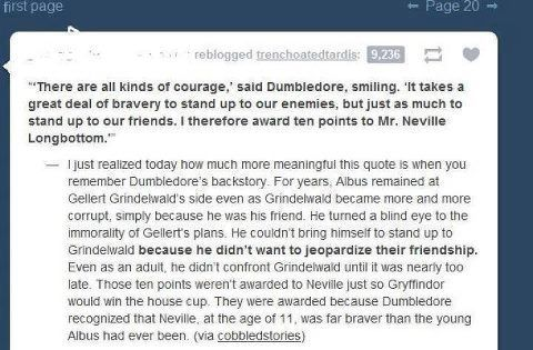 Dumbledore awarding Neville 10 house points in Year 1.--Wow I never thought of the reason for this!
