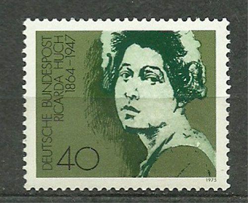 Germany, RFN, 1975, Mi 827, Ricarda Huch (1864-1947), MNH