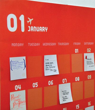 super smart post-it note calendar project. Stuff like this turns me on. Type A much?!
