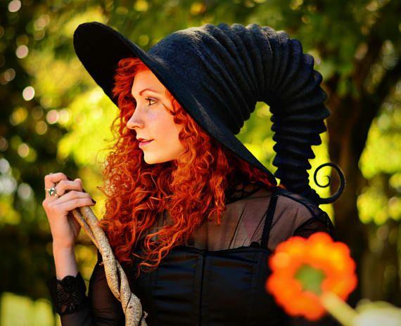 Halloween Costume Hat. Witch Hat. Wizard Hat. Fantasy Hat.