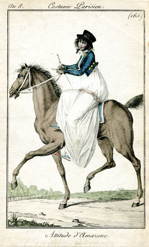 A blue spencer with gold buttons for a riding habit. an 8 costume parisien