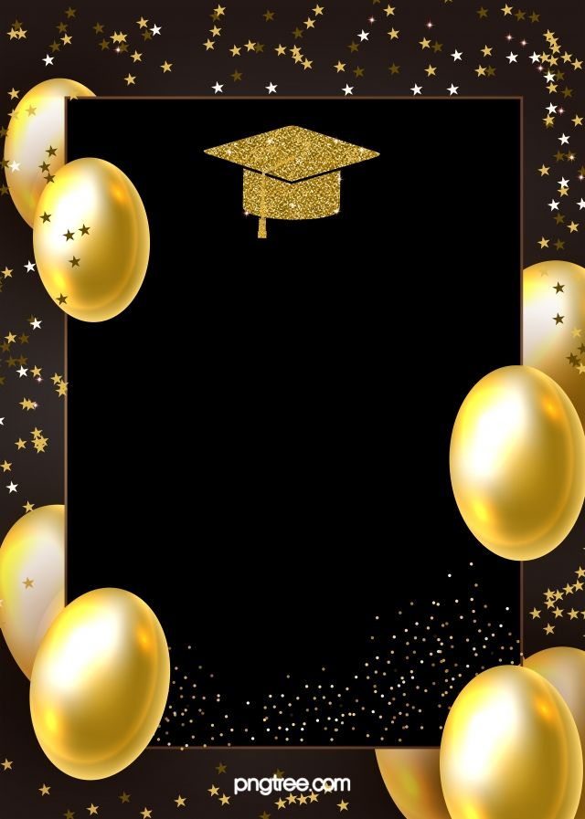 Golden Graduation Hat Background Graduation Hat Graduation