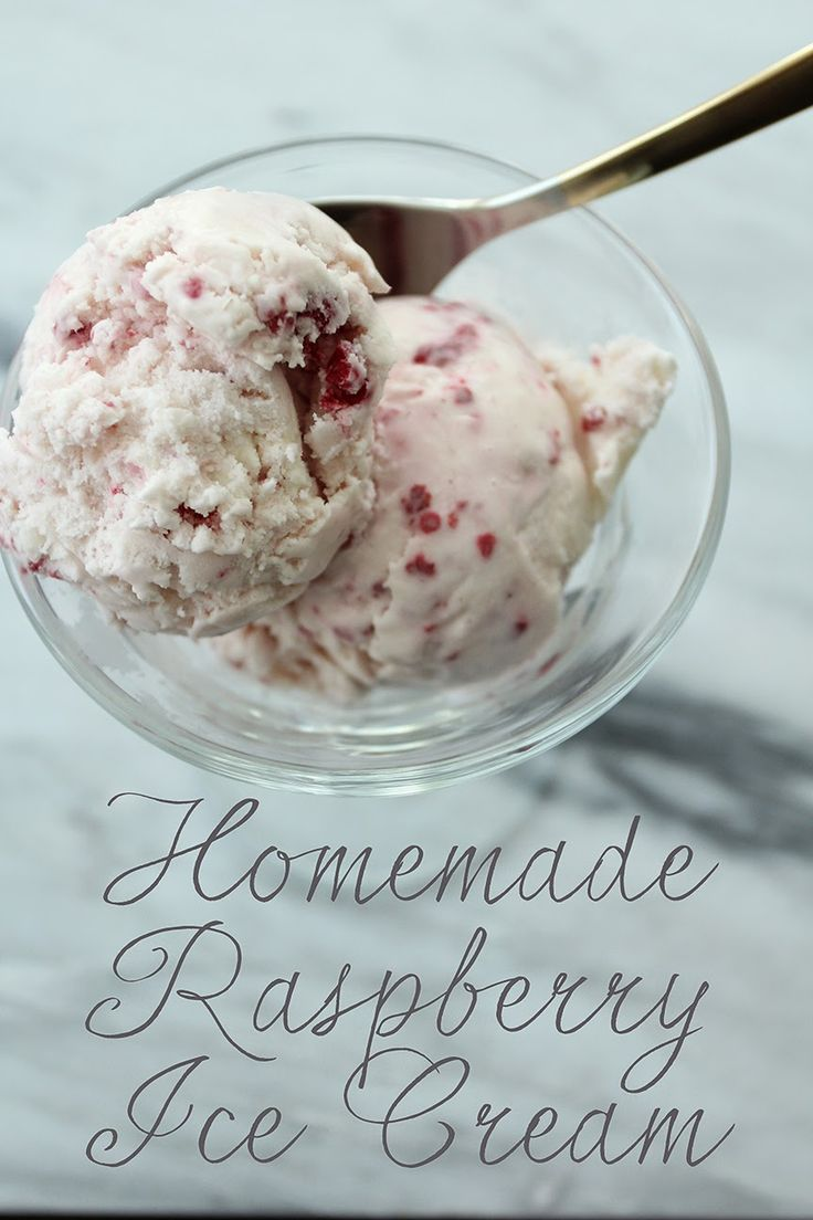 Easy Homemade Raspberry Ice Cream