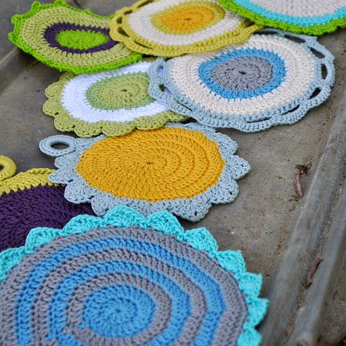 Free Crochet Potholder Patterns For Beginners : Great crochet pot holders (free pattern)