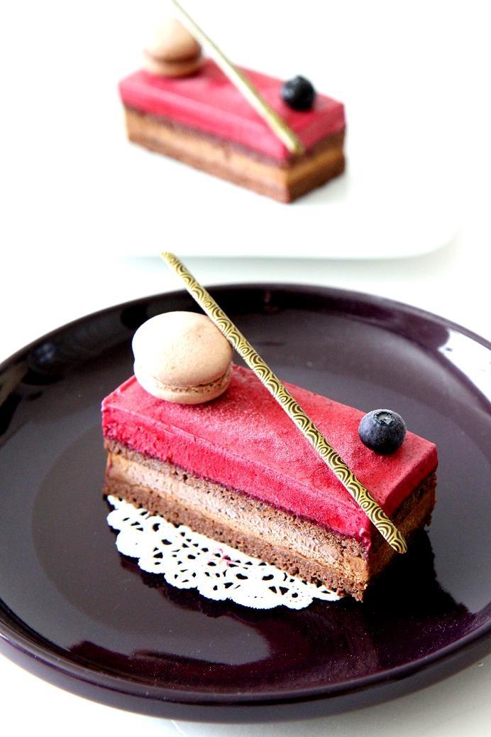 Cassis Chocolate Cake