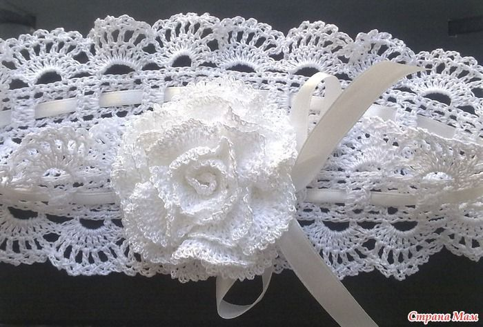 Headband with step by step picture instructions, use web translator for page. The pictures are good enough for this work, I love it..