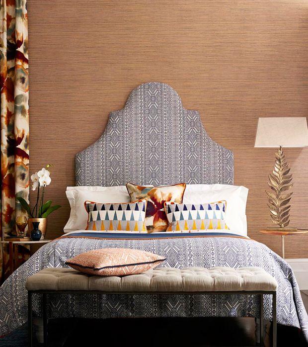Cabecero tapizado con tela Tresillo de Harlequin