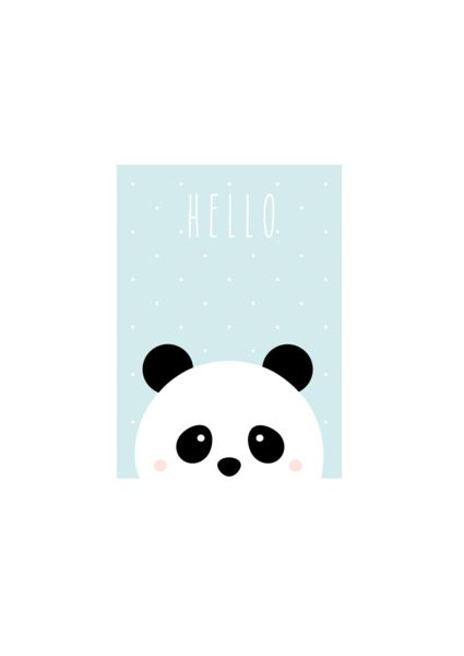 """Bilder - Kunstdruck / Baby / Kids Print """"Panda"""" - ein Designerstück von TypicalMe bei DaWanda"""