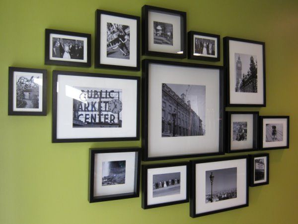 How To: IKEA Ribba Frame Gallery Wall - Another potential layout for my office.