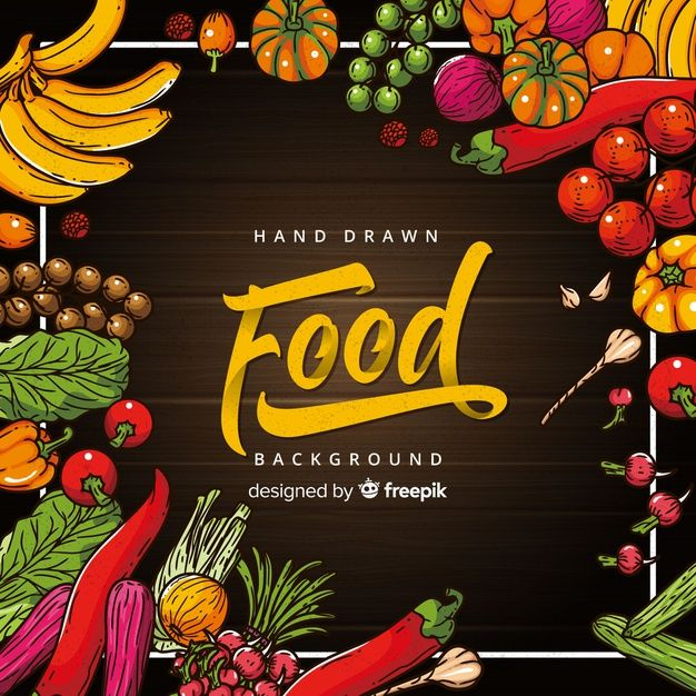 Download Hand Drawn Food Background For Free Food Backgrounds Food Drawing Food Poster Design