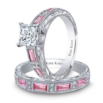 KIRK KARA diamonds and pink sapphires. But with black diakonds in place of the pink sapphires and its perfect!