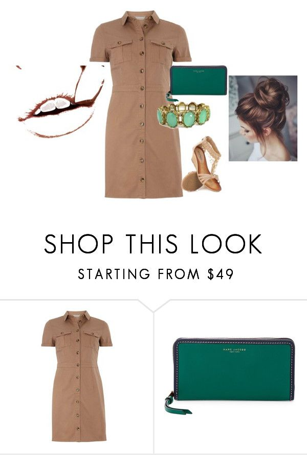 """Beige and Green"" by theo-killian ❤ liked on Polyvore featuring mel and Marc Jacobs"