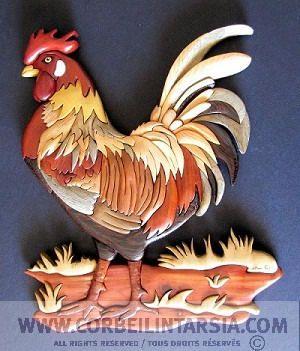 CORBEILINTARSIA.COM Henriette Corbeil intarsia pattern: Colorful Rooster / Plan intarsia de Henriette Corbeil: Coq flamboyant