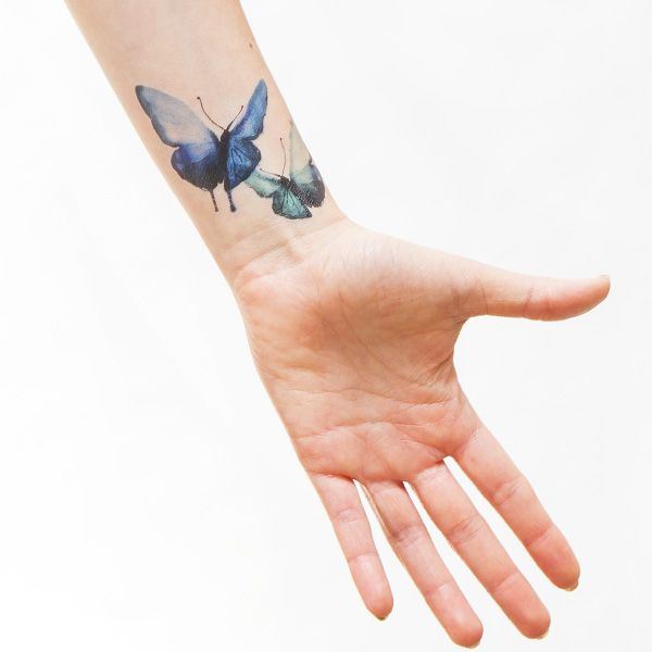 This teal certainly has a certain appeal. Catch these butterflies today, part of the Watercolor Butterflies Set of Tattly temporary tattoos by Stina Persson!