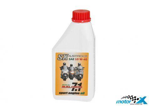 Olej Malossi SX 4T Sport 10W40 jest nowoczesnym syntetycznym olejem specjalnie wyprodukowanym dla chłodzonych powietrzem lub cieczą nowoczesnych, wysokiej jakości, wysokoobrotowych 4-suwowych silników motocyklowych i skuterowych.