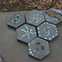 hexagon stepping stones