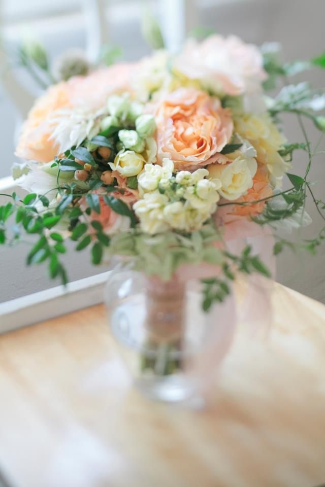 Peach Garden Rose Bouquet 204 best wedding floral images on pinterest | marriage, bridal